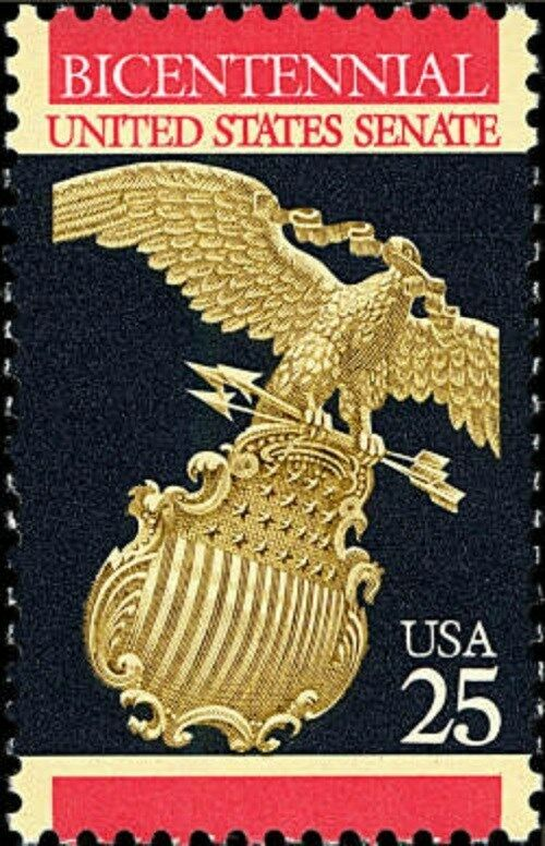 1989 25c United States Senate Bicentennial Scott 2413 M