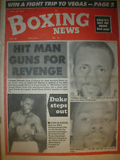 BOXING NEWS MARCH 20 1992 IRAN BARKLEY v THOMAS HEARNS FIGHT PREVIEW