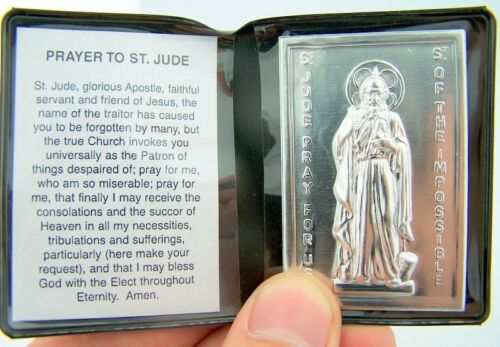 Preghiera a San St Jude religioso AUTOMOBILISTA LIBRETTO di preghiera cartella per visiera auto