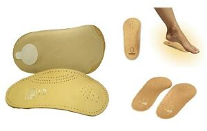 Tacco 650 34 Elastic Orthotic Arch Support Leather Shoe Insoles