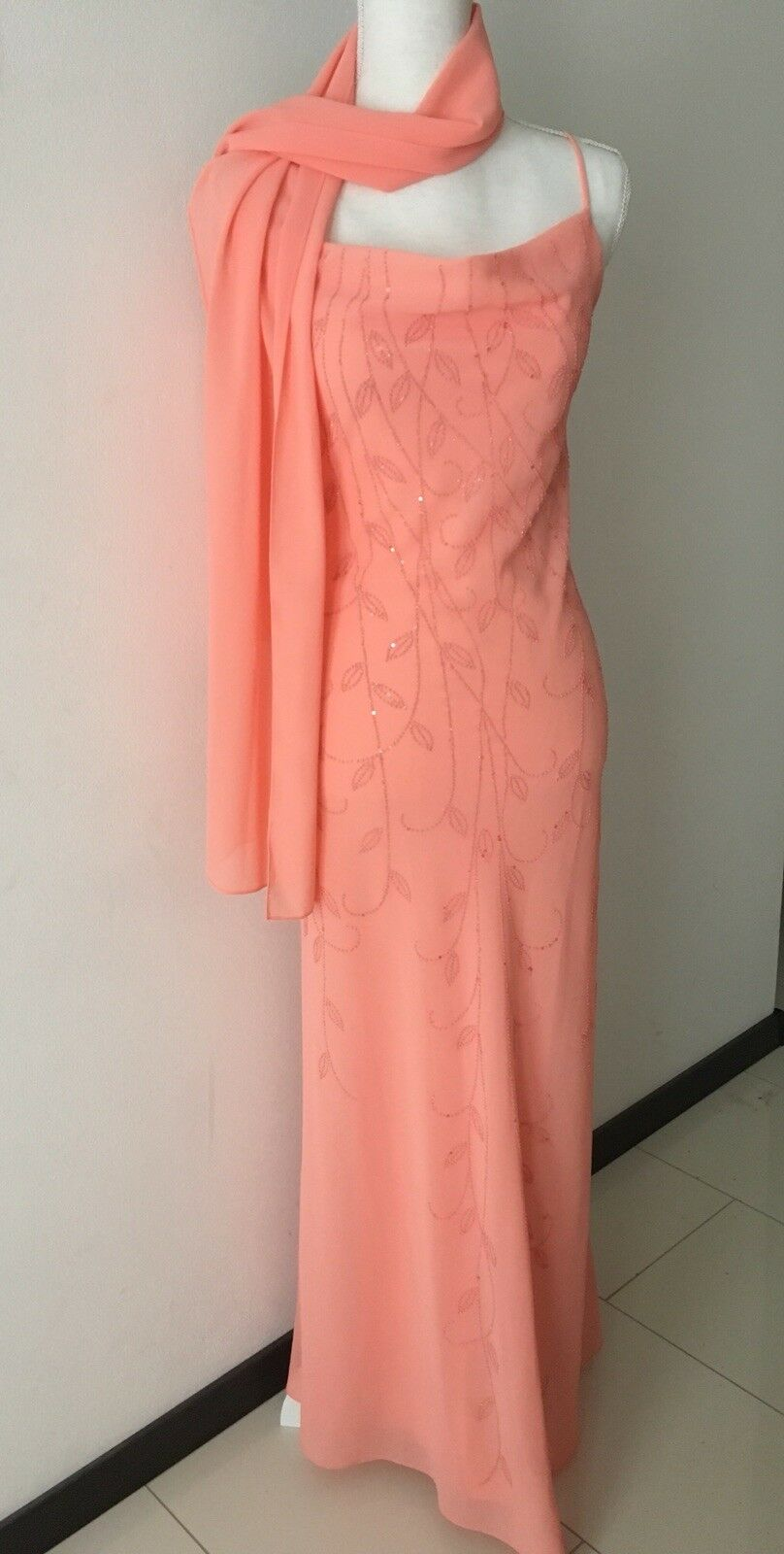 Unique Pailettenkleid Abendkleid XS Neuwertig