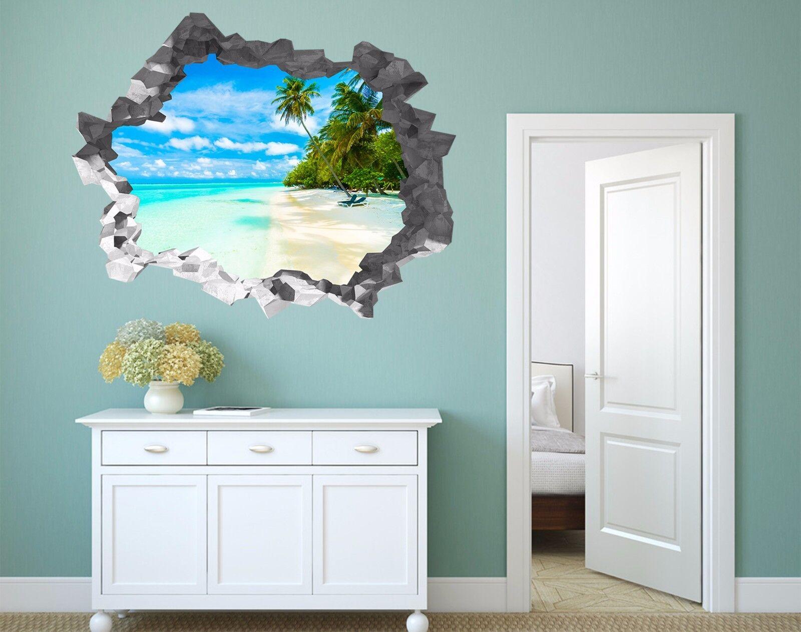 3D Sky Beach 566 Wall Murals Stickers Decal Durchbruch AJ WALLAPER AU Lemon