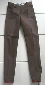Horka-Reithose-3-4Vollbesatz-Braun-Gr-36-farblich-abgesetzte-Naehte
