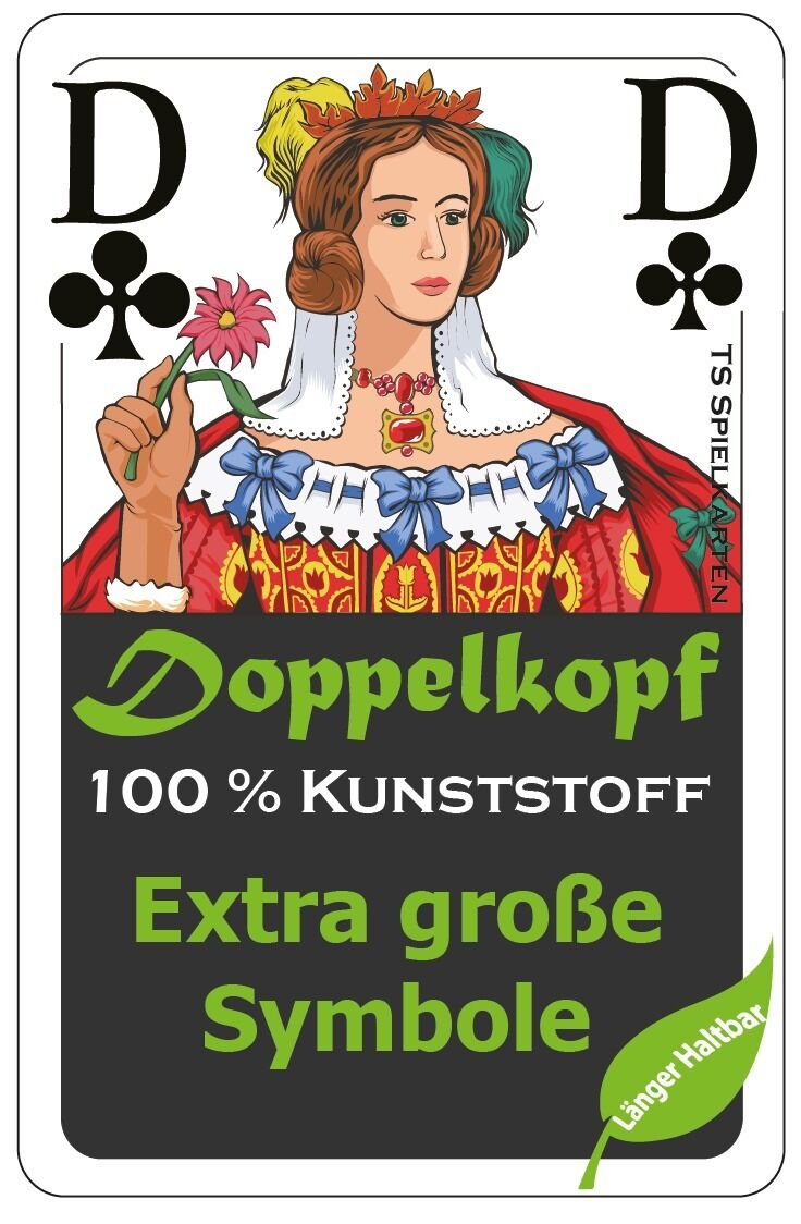 Ab    Doppelkopf Spielkarten Senioren 100% Kunststoff (Plastik +) Franz. Bild 630c04