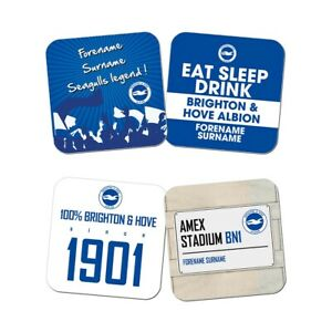 Brighton & Hove Albion F.c - Personalised Coasters