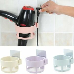 Wall-Mount-Hair-Blow-Dryer-Holder-Bathroom-Storage-Spiral-Blower-Stand-Organizer