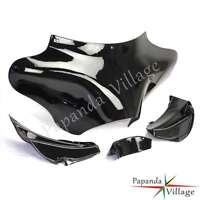 Vivid Black Front Outer Batwing Fairing For Harley Softail Road King FLHR FLST
