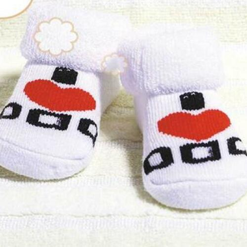 Baby Socks Girl Boy Mum Dad Infant Newborn Cotton White Red Black 8C