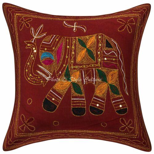 Bestickte Baumwolle Kissenbezug Elefant Kissenbezug Traditional Decor Bohemian