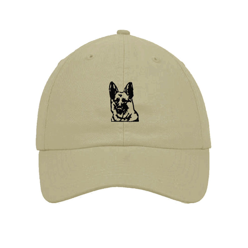 Custom Baseball Cap Pink German Shepherd Head Embroidery Cotton Soft Mesh Cap Snapback Black Charcoal Personalized Text Here