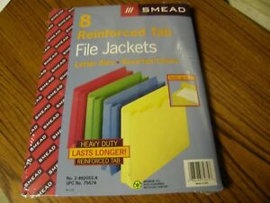 Details about 3240) 1 Pk 8 Smead Reinforced Tab File Jackets Letter Size  Assorted Colors New