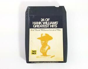 Vintage 24 Of Hank Williams Greatest Hits 8 Track Tape Cartridge, MGM, Nice