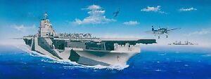 Nous.   Porte-aéronefs Uss Cv-14 Ticonderoga Ship 1: 350 en plastique
