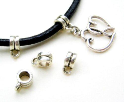 Pendentif Boucles Collier boucles métal perles avec anhängerösen 10//50 Pièce