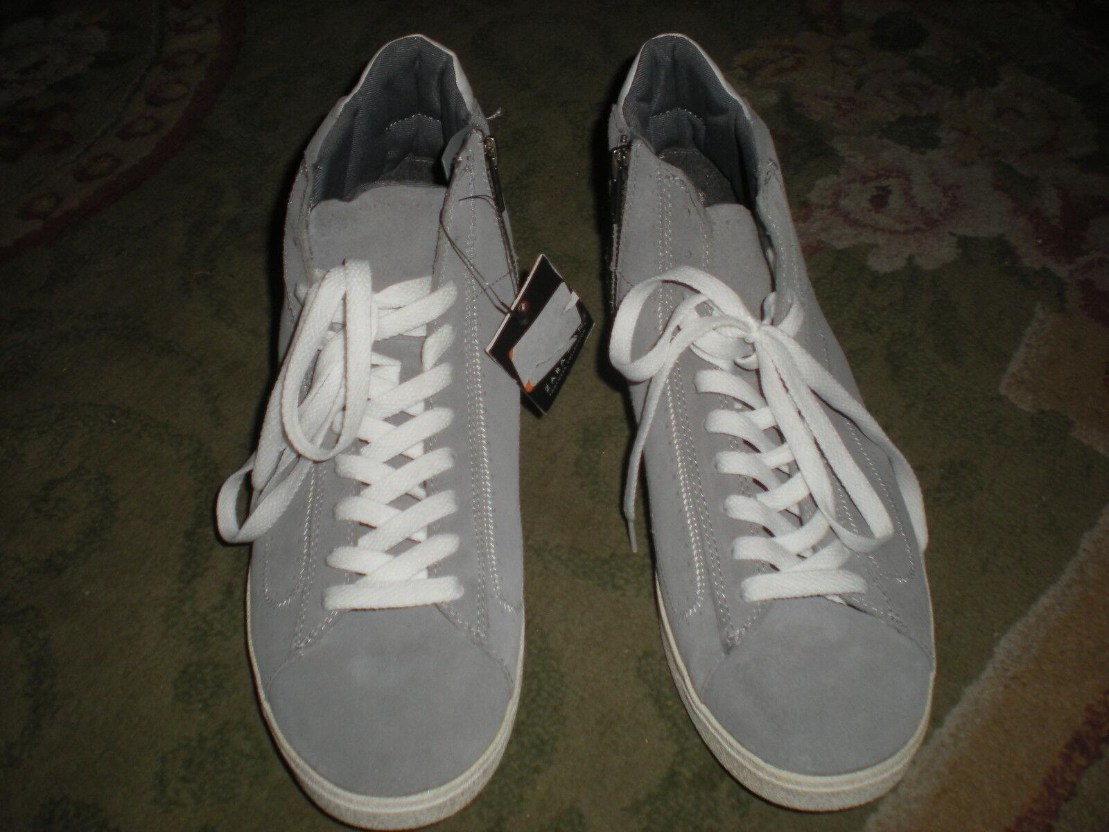 Desgaste de la colección de calzado Zara-Hombres Zapatos para caminar gris y blancoo-tamaño 11