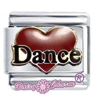 DAISY CHARM by JSC Italian Charms  RED DANCE HEART
