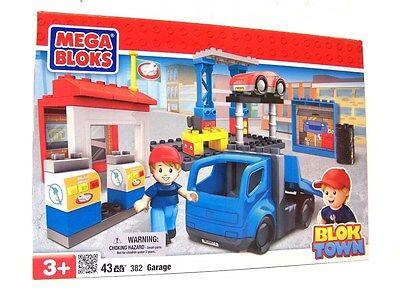 Mega Bloks BLOK TOWN Bausatz No. 382 KfZ-Autowerkstatt   Garage 43 pcs   NEU