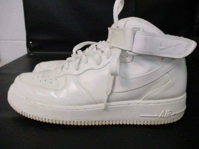Nike Air Force 1 men's size 9.5  white high top preowned basketball lifestyle