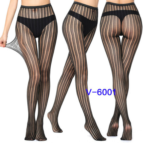 Women Fishnet Elastic Stockings Fish Net Footed Tights Pantyhose Lace Socks