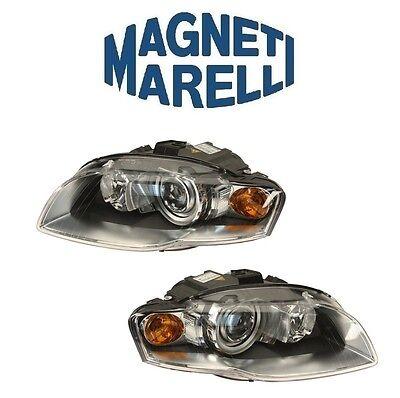 Audi A4 Quattro RS4 S4 Set Of Left+Right Bi-Xenon Headlight Assemblies Marelli