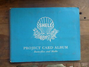COMPLETE-VINTAGE-SHELL-PROJECT-CARD-ALBUM-BUTTERFLIES-amp-MOTHS-60-CARDS
