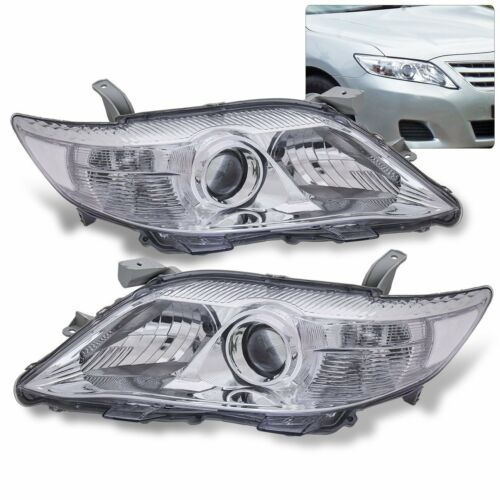 For 10-11 Toyota Camry XV40 Projector Chrome Side Clear Head Light Lamp