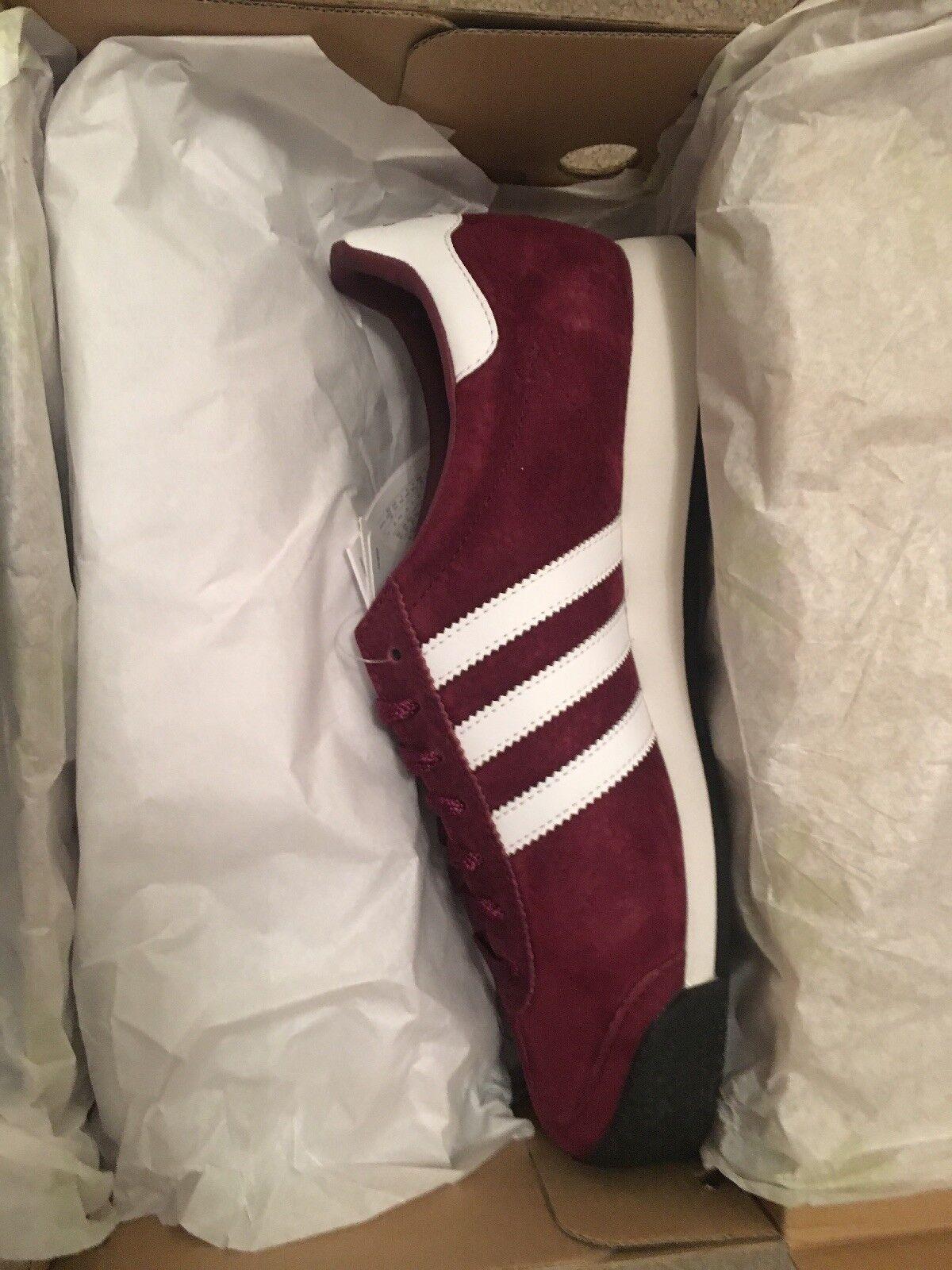 Adidas Samoa Vintage Maroon Größe 8 Deadstock 80s Retro Football Casuals
