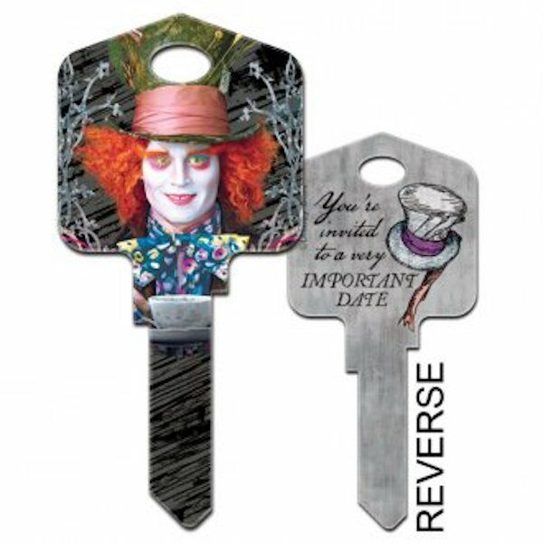 Alice In Wonderland House Key-MAD HATTER-Blank,House Key-FREE POST -DKD58