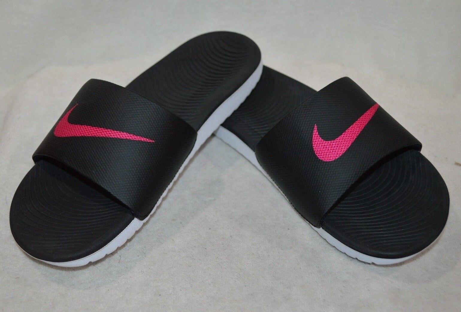 Nike Women's Kawa Black/Pink Slide Sandals - Size 7/10 NWB (834588-060)