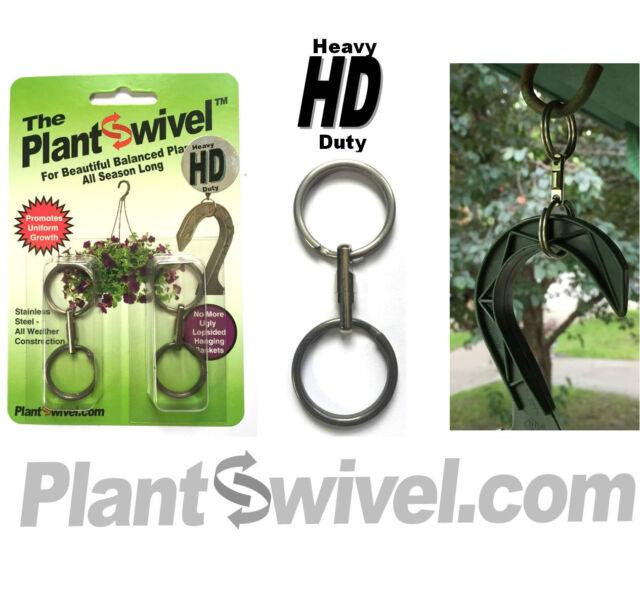 2 pk Plantswivel Hanging Basket Plant Swivel Hanger SS