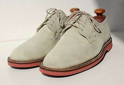 J. Crew 12.5D Gentleman's Traditional Off-White Bucks Oxford Shoes