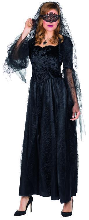 Schwarze Braut langes schwarzes Brautkleid Größe 36 Damen Halloween Untote Untote Untote   Mittel Preis    Hohe Qualität und geringer Aufwand    Verkauf  1fe2ea