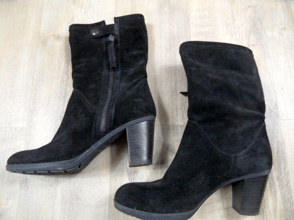 Zapatos especiales con descuento VIA VAI chice Wildleder Stiefeletten schwarz Gr. 37 TOP ZC1217