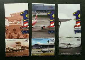 SJ-100-Years-Of-Aviation-Malaysia-2011-Transport-Airport-Airplane-stamp-MNH