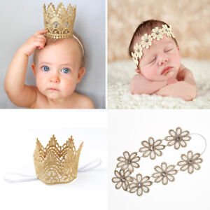 Hair Accessories Nice Newborn Baby Girl Infant Crown Headband