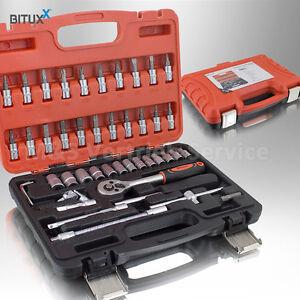 BITUXX-Werkzeugkoffer-45-tlg-Knarrenkasten-Ratschenkasten-Nusskasten-Stecknuss