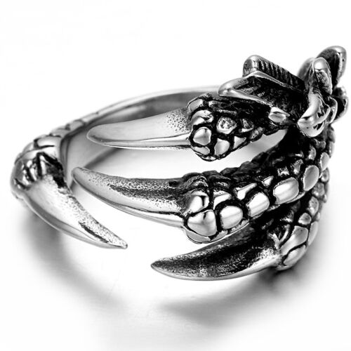 Ring Edelstahl 316L Dragon Claw Drachenklaue Drachen Klaue Gothic EMO RE47