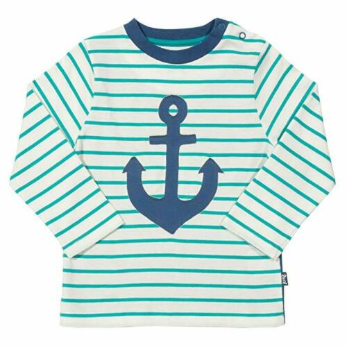 Kite Clothing 100/% Organic Cotton Boys Green Stripe Anchor T-Shirt  RRP £19