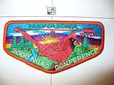 OA Nawakwa Lodge 3, S-77, 2000 NOAC UT,Cardinal Flap,ORG,Robert E Lee Council,VA