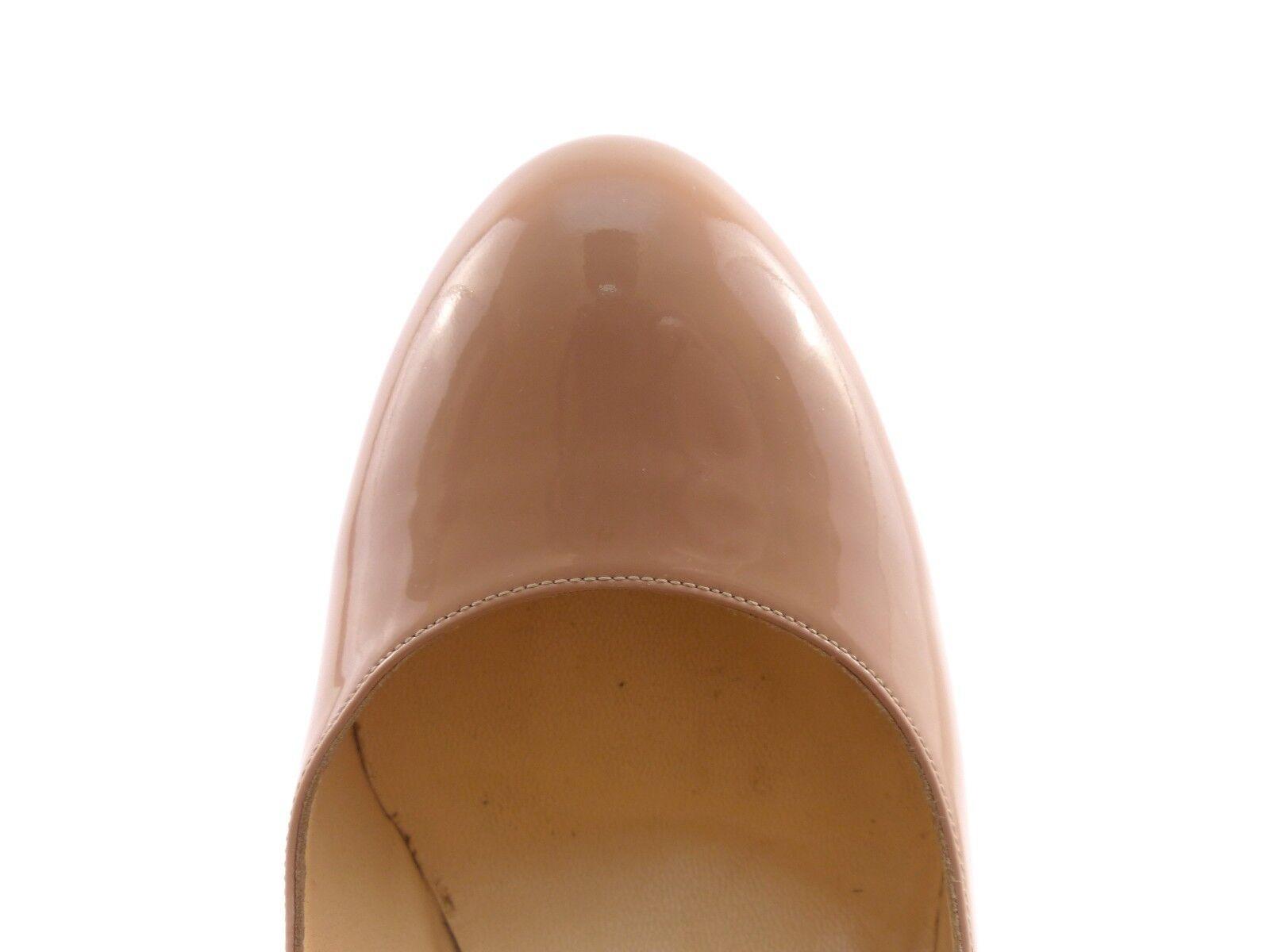 Christian Louboutin 'white 140' Nude Patent Patent Patent  UK 6   EU 39   US 9 490127