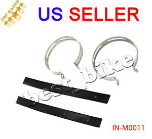 Exhaust Muffler Clamp Bracket Rubber Kit for GY6 50cc 125cc 150cc Scooter 115mm