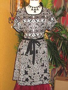 ccf582d3ccc JESSICA SIMPSON BERNINI NWT  98 women s dress 1X 2X black white grey ...