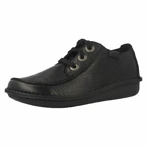 Dream Mujer Clarks Negro Cuero De Zapatos Casuales Cordones Con Divertido aqEqR4