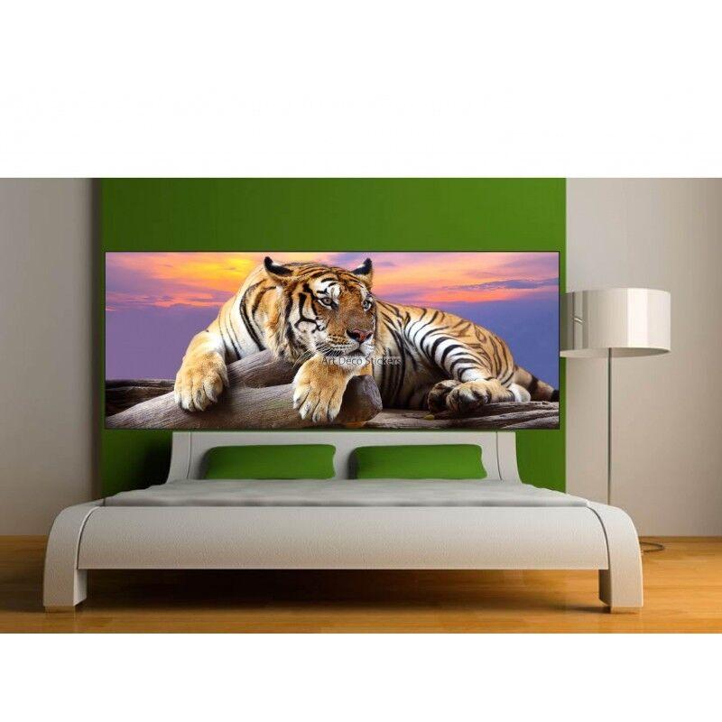 Aufkleber -kopf Bett Deko Zimmer Tiger 9159
