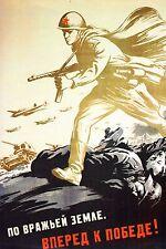 WW2  - Photo affiche - Le rouleau compresseur soviétique