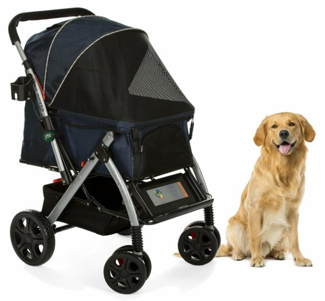 BLUE HPZ PET ROVER Premium Heavy-Duty Carriage Stroller for SM//MD//LG Dog /& Cat