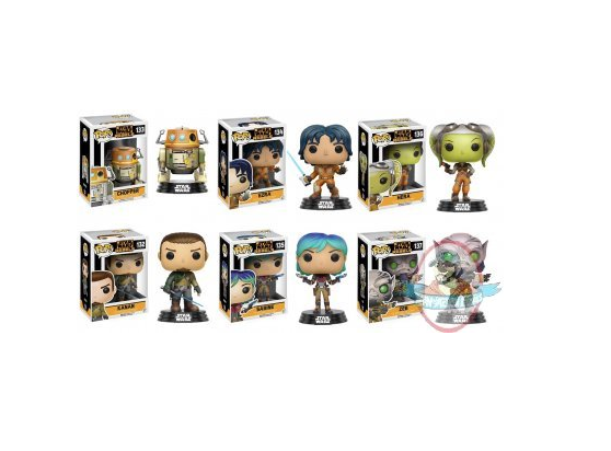 POP Star Wars Rebels Set of 6 Vinyl Figures Funko