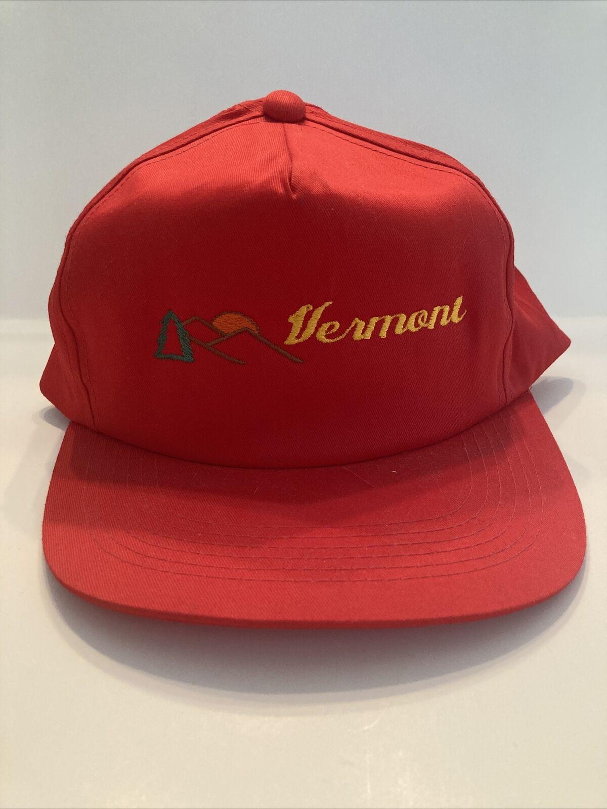 Vintage Red Vermont Snap Back Hat, J Hats, Embroi… - image 2