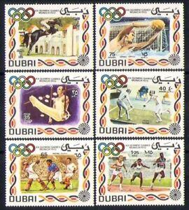 Dubai 1972 MNH No Gum 6v, Sports, Olympics, Horses, Fencing, Hockey