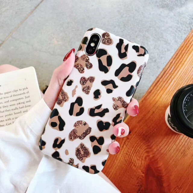 new arrival 71c15 4e640 Fashion Leopard Animal Print Phone Case Cover For iPhone 6 6s 7 8 Plus XR  XS MAX